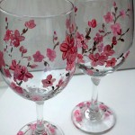 Spring Blossom Wine Glasses