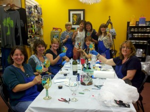 Wine Glasses Paint Party at Chevere Uxbridge
