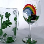 St. Patrick Day Mug & Wine Glass